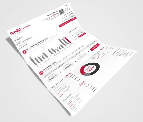 ComEd New Residential Billing Statement on Behance - billing statement