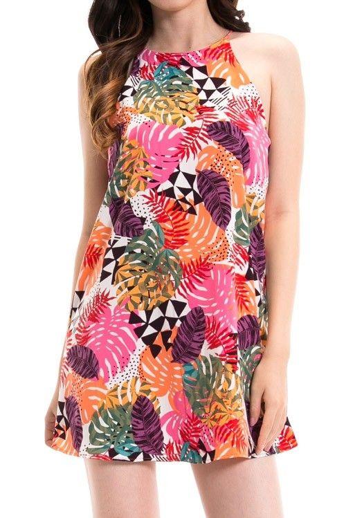 Pink Tropics Aline Dress