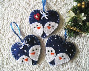 Christmas angels felt ornament Felt angel white by feltgofen