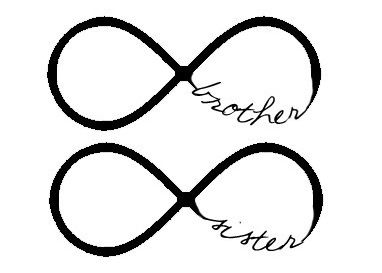Sisters infinity tattoos Brother and Sister infinity on Pinterest