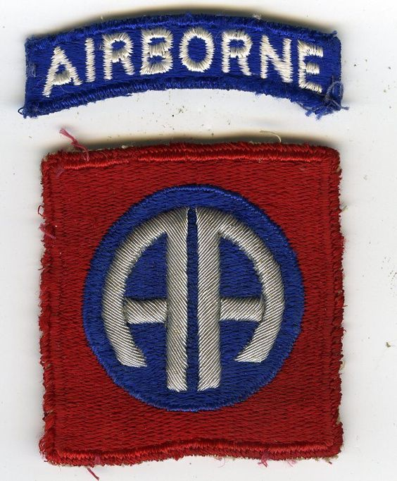 WW2 82nd Airborne Shoulder Insignia With Added German Oversewn Bullion AA