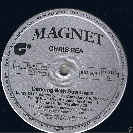 Chris Rea - Dancing With Strangers GER 1987 Lp near mint w/Inner