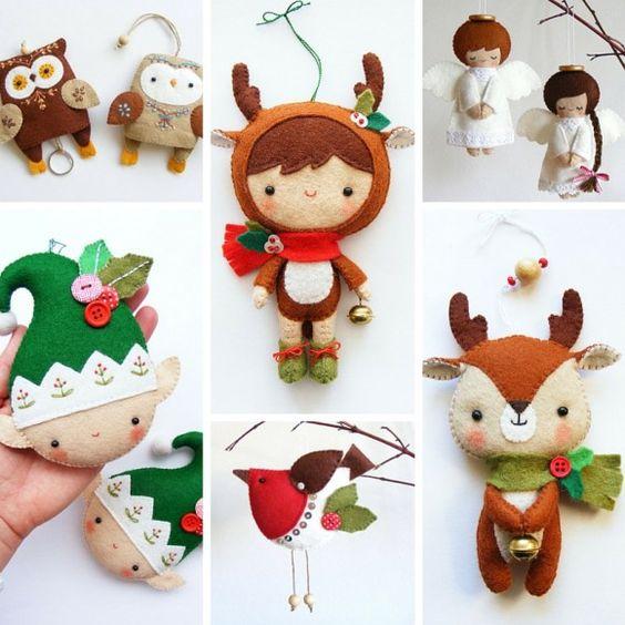 Яркие елочные игрушки от imanufatti: