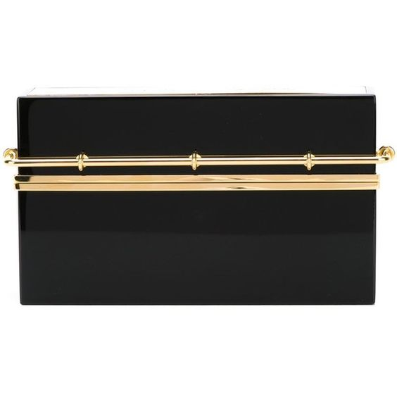 Charlotte Olympia Mini Bar Clutch (¥190,010) ❤ liked on Polyvore featuring bags, handbags, clutches, black, charlotte olympia purse, charlotte olympia, miniature purse, black purse and charlotte olympia clutches