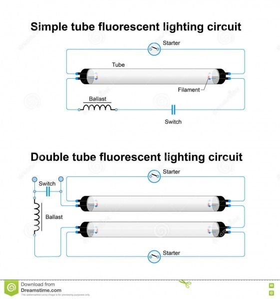 Twin Fluorescent Lamp Wiring Diagram Led Fluorescent Tube Fluorescent Lamp Fluorescent Light