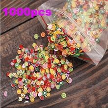 1000 pçs/saco Nail Art 3D de pena de flores doces pequenas fatias Fimo Polymer argila DIY Nail Sticker decoração NA005(China (Mainland))