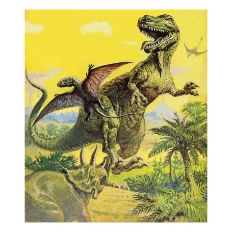 Dinosaurs Giclee Print by English School at AllPosters.com