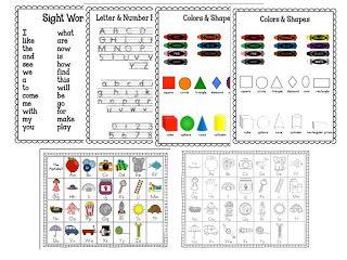 Kindergarten Homework Folders and Binders