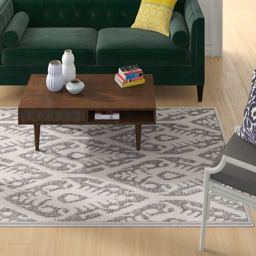 Wilbraham Ikat Gray Indoor Outdoor Area Rug In 2020 Purple Area Rugs Yellow Area Rugs Area Rugs