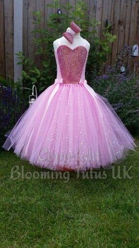 Beautiful pink sparkly princess tutu dress by www.facebook.com/bloomingtutusuk