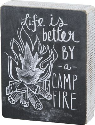 Item # 24031 | Chalk Sign - Campfire | Primitives by Kathy