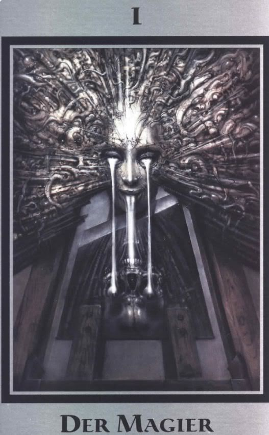 H.R. Giger, Swiss illustrator & lover of aliens - 72 today…  From the Baphomet Tarot - Der Magier/The Magician