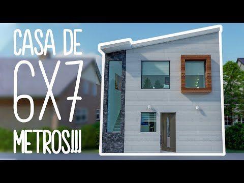 Casa En Terreno De 6x7 Metros Descarga Gratis Pdf Youtube En 2020 Casas De Dos Pisos Planos De Casas Pequenas Planos De Casas