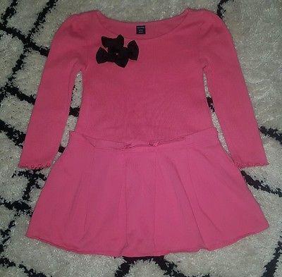 Baby Gap girls dress 2T pink black bows