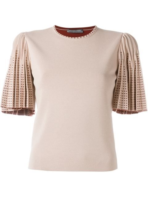 Alexander McQueen pleated sleeve knit top