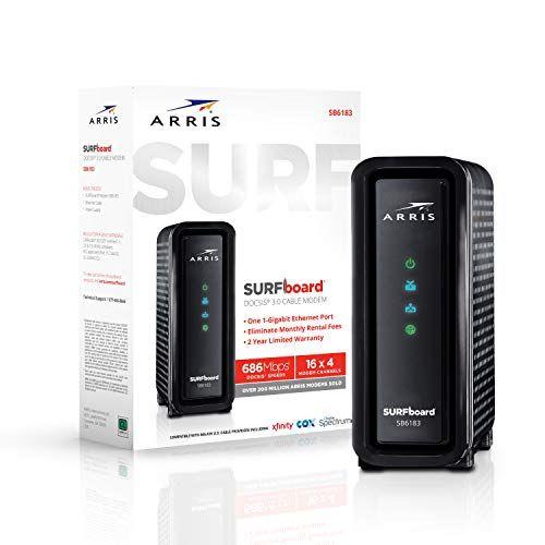 Arris Surfboard 16x4 Docsis 3 0 Cable Modem Approved F Https Www Amazon Com Dp B01itixyr0 Ref Cm Sw R Pi Dp Cable Modem Cable Internet Providers Modems