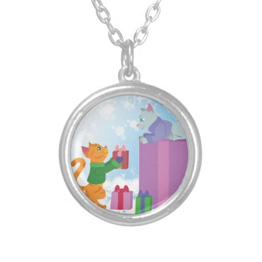 Share The Joy of Christmas! Necklace #christmas #cats #kittens #tabby #pets