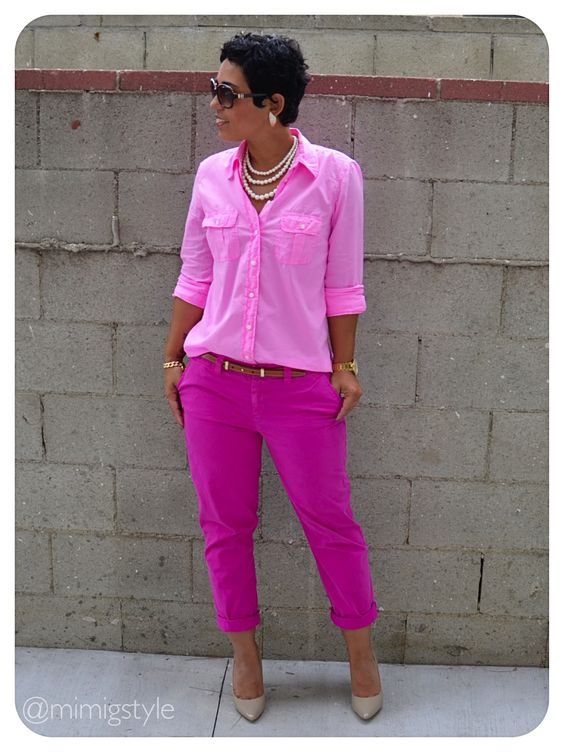 Pretty In Pink + How to Wear ONE all over color. Post & Links HERE: http://mimigoodwin.blogspot.com/2012/10/ootd-pretty-in-pink.html #Gap: