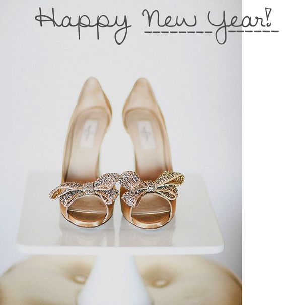 happy new year #valentino gold sparkly bow heels _ glitterinc.com ...