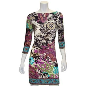 Indication by ECI Floral Paisley Shift Dress - Women's