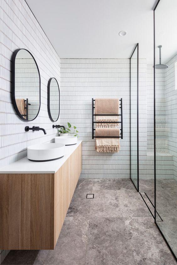 40 Modern Scandinavian Bathroom Ideas In 2020 Scandinavian Bathroom House Bathroom Designs Bathroom Design