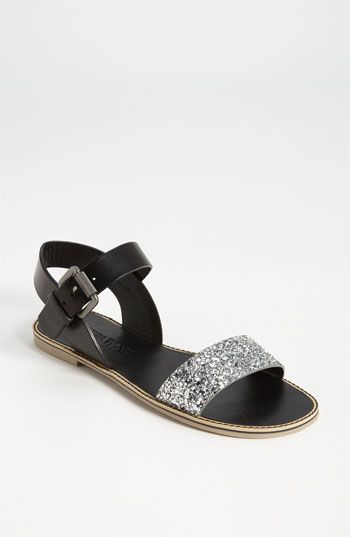 Vera Wang Footwear 'Febe' Sandal (Online Exclusive) | Nordstrom in silver / black $150