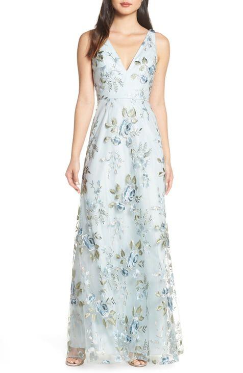 Women S Wedding Guest Dresses Nordstrom Women Wedding Guest Dresses Tulle Evening Dress Floral Blue Dress