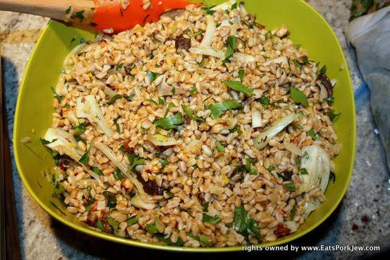 foodporn-farro-fennel-leeks-salad