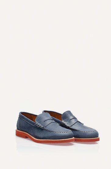 Mocasín serraje azul - Zapatos - NUEVA TEMPORADA - MEN - Mexico- Massimo Dutti