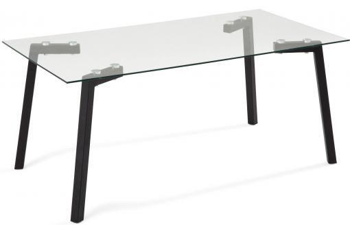 Table Basse En Verre Et Metal Noir Guru Table Basse Laquee Table Basse Table Basse Verre