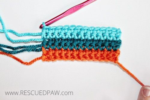 Learn How to Change Colors in Crochet From Rescued Paw. Click to Read or Pin and Save for Later!: