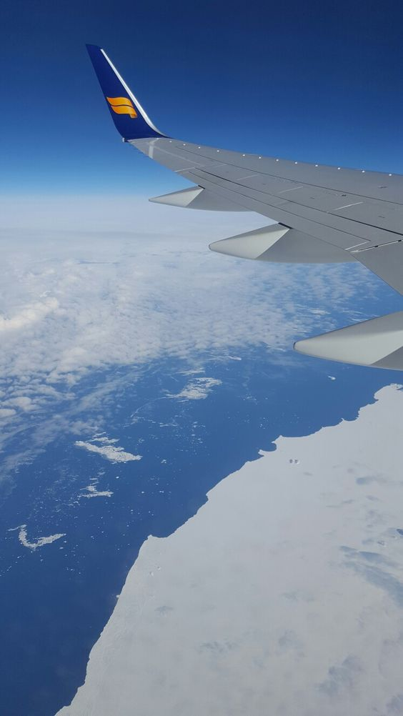 Flying over the North Atlantic