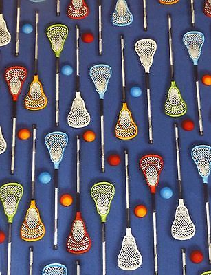 Kaufman Fabric~SPORTS LIFE 3 LACROSSE~Cotton Sew Apparel Craft 14628-205~ S140