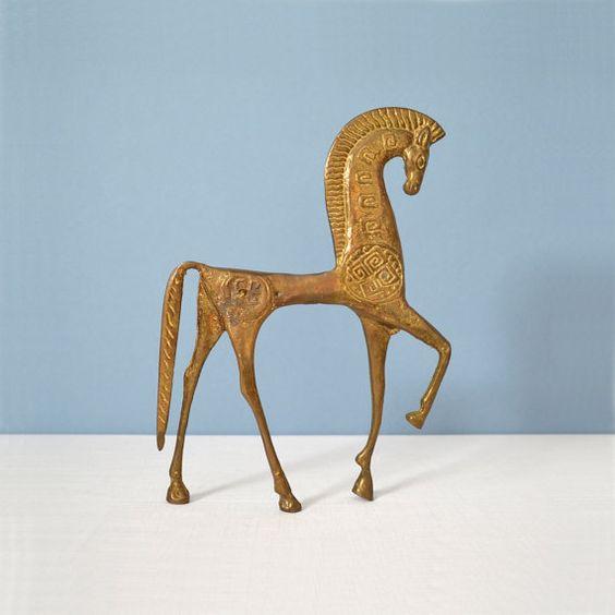 Large Modernist Etruscan Horse