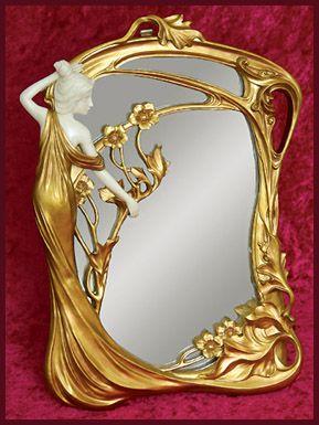 Modern cold-cast resin mirror