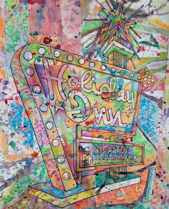 "Cool conceptual design of ""The Great Sign."" #HolidayInnGWBridgeFortLeeNYC"