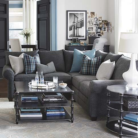 very much in love w this l-shaped couch... stylish, cozy, economic, quality.