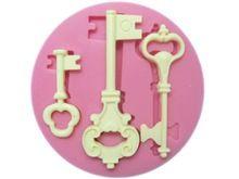 Molde de Silicone 3D chave de Silicone moldes Fondant bolo decoração ferramentas artesanais açúcar ferramentas de cozimento bolo FA-549(China (Mainland))