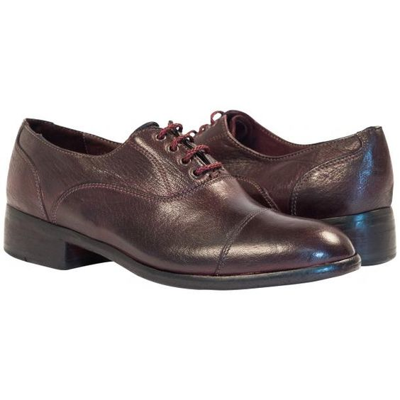 Melissa Dip Dyed Liver Leather Oxford Lace Up Shoes from PaoloShoes.com
