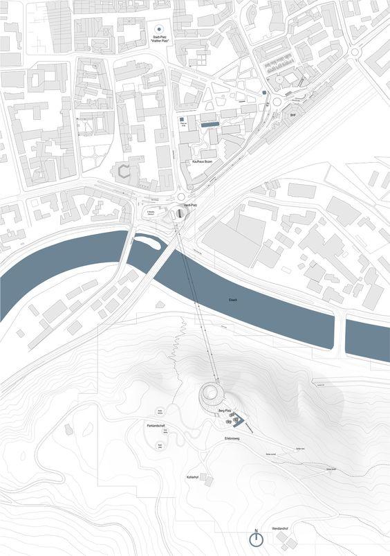 Snøhetta gewinnen Wettbewerb in Bozen / Seilbahn zum Bergplatz - Architektur und Architekten - News / Meldungen / Nachrichten - BauNetz.de