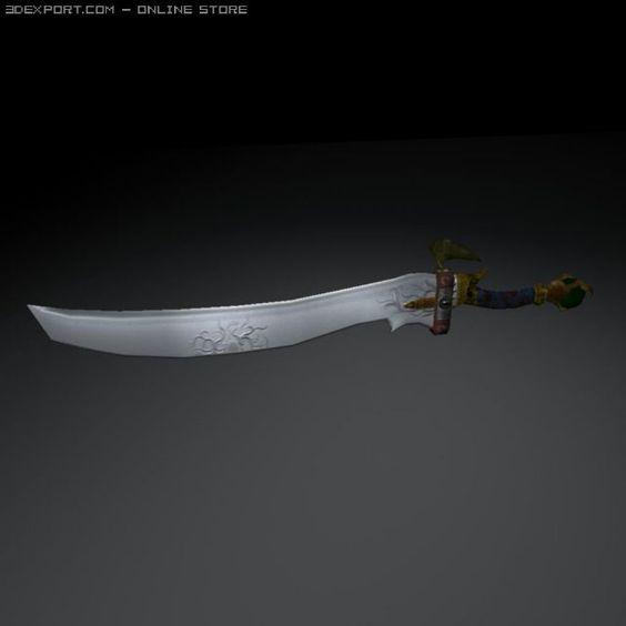 3D Model Talon Sword c4d, obj, 3ds, fbx, ma, lwo 32037