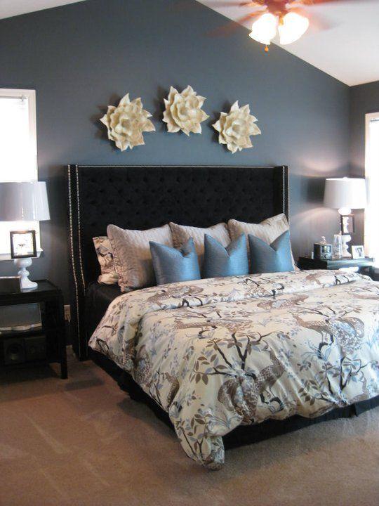 Smokey Blue Bedroom: Benjamin Moore 2126-30 Anchor Gray. The Art Of Paint, Vol
