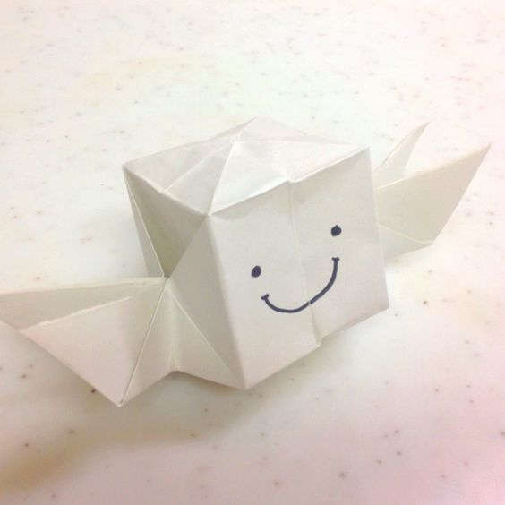 #origami a Box with wings