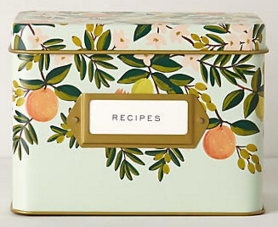 Tin Recipe Box by Rifle Paper