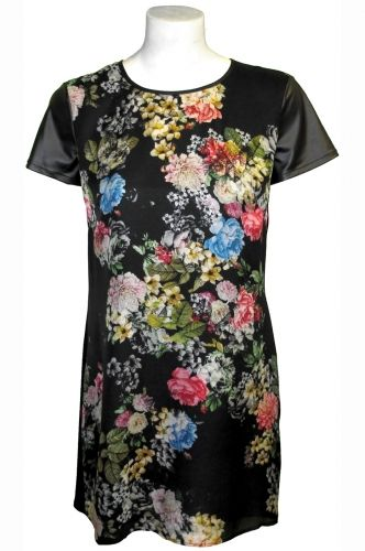 Winter Floral Shift #Dress 100% #Silk