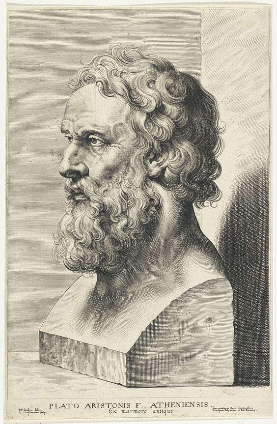 Buste van Plato, Lucas Vorsterman (I), 1630 - 1638