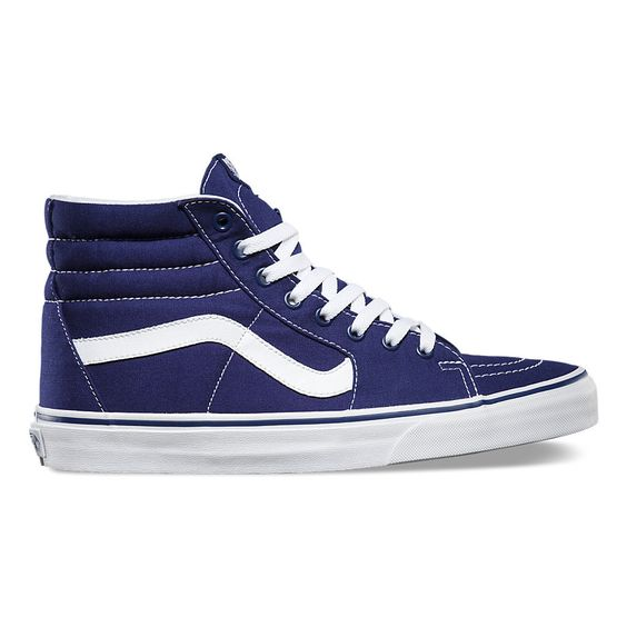 Vans Men's Sk8 Hi Canvas Shoes - Patriot Blue