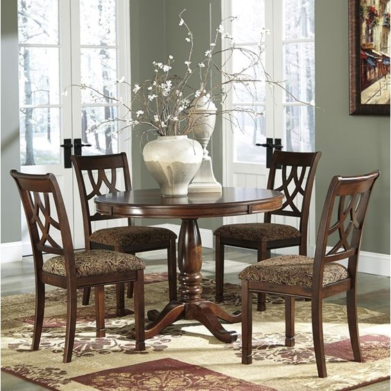 Medium Brown Dining Room Set | Brianu0027s Furniture