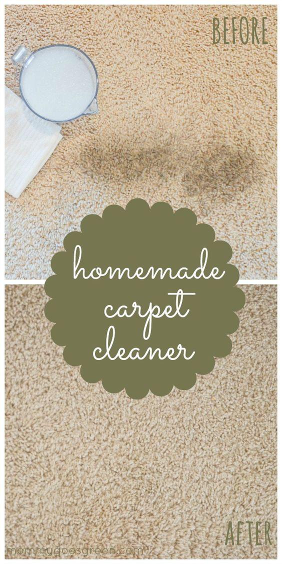 homemade carpet cleaner  / http://mommygoesgreen.com/2013/05/homemade-carpet-cleaner/