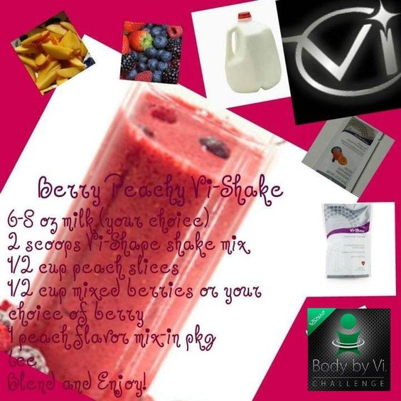 Berry Peachy Vi-Shake.  Enter your  information at glenclewis.bodybyvi.com for free samples!